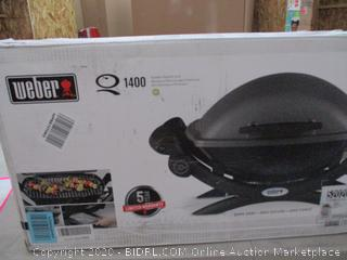 Weber 52020001 Q1400 Electric Grill, Gray (RETAIL $293) (POWER ON)