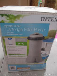 Intex Krystal Clear Cartridge Filter Pump for Above Ground Pools, 1000 GPH Pump Flow Rate, 110-120V with GFCI