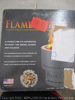"HY-C FG-16 Flame Genie Portable Smoke-Free Wood Pellet Fire Pit, USA Made, 13.5"" Diameter (RETAIL $98)"