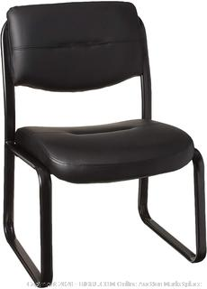 Boss Office Products Leather Sled Base Side Chair in Black (online $75)