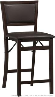 Linon Home Decor Keira Pad Back Folding Counter Stool, 24-Inch (online $46)