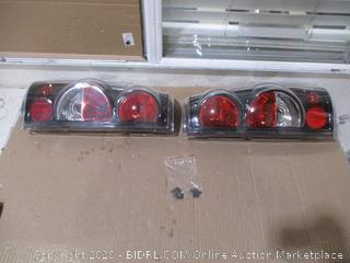 Taillights Tail Lamps Compatible with Chevy Chevrolet Silverado 1500 2500 3500 1999-2006 & 2007 with Classic Body