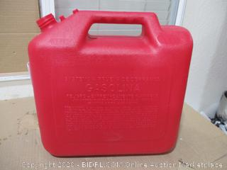 Garage Boss - Press 'N Pour Plastic Gasoline Can, 5 Gal (Missing Nozzle, See Pictures)