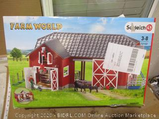 Schleich - Farm World, Large Red Barn with Animals and Accessories