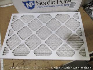 Nordic Pure - AC & Furnace Filters 16 x 24 x 1 (Qty 6)
