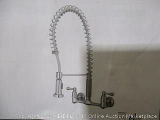 Tosca - 2-Handle Wall-Mount, Pull-Down Sprayer Kitchen Faucet