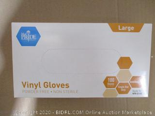 Med Pride - Vinyl Gloves (Large)