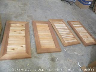 Wood Louver Doors