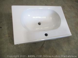 "Dawn - Ceramic Lavatory Sink Top, 3 1/8"" Thick"