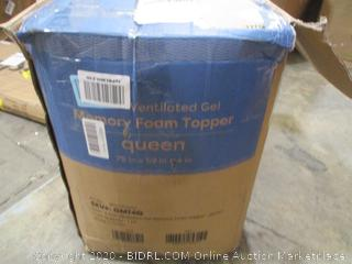 "4"" Ventilated Gel Memory Foam Mattress Topper (Queen)"