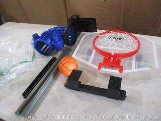 Franklin Sports - Over The Door Basketball Hoop With Automatic Ball Rebounder (Cracked, See Pictures)