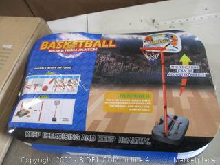 Portzon - NBA Mini Basketball Hoop Indoor with Adjustable-Height (67-78.7 inch)