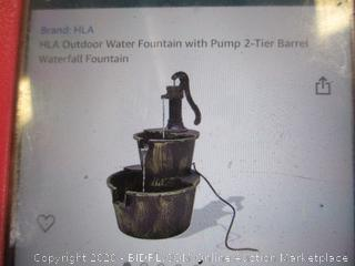HLA - Outdoor Water Fountain with Pump