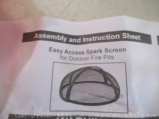Easy Access Spark Screen for Outdoor Fire Pits