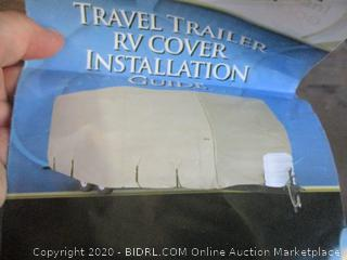 Goldline Travel Trailer RV Covers by Eevelle | Waterproof Fabric | Gray