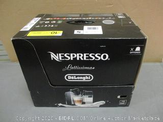 Nespresso Lattissima+ DeLonghi - Powers On