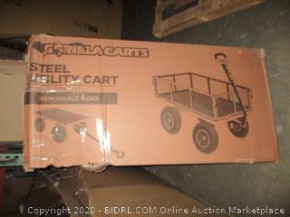 Gorilla Carts Steel Utility Cart  possibly missing parts