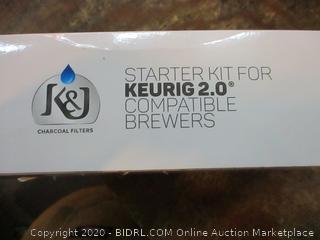 K&J Charcoal Filters Starter kit for Keurig 2.0 compatible brewers