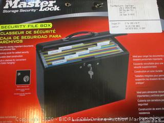 Master Lock Security File Box  with keys