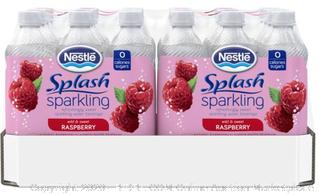 Nestle Splash sparkling wild and sweet raspberry 24 count ($16 Value)