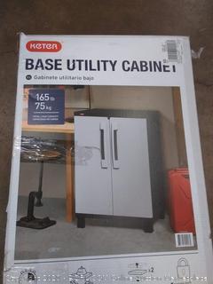 "Keter Freestanding Utility Storage Cabinet 25"" W x 38"" H x 17"" D"