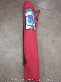 Destination Summer Never Rust Aluminum 9ft Round Umbrella with crank red