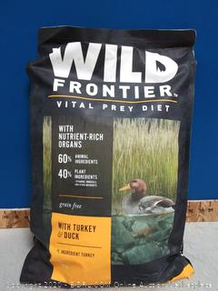 WILD FRONTIER VITAL PREY Adult Dry Dog Food with Turkey (online $41)