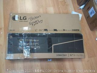 LG 32 inch monitor 32MA70HY broken display (parts)