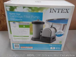 index Krystal Clear cartridge filter pump for above-ground pools 2500 gallons per minute 110 120 volt(Powers on)