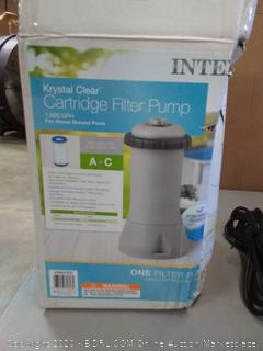 Intex 1000 GPH Easy Set Above Ground Swimming Pool Cartridge Filter Pump System(Powers on)