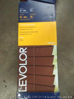 Levolor 27 in x 64 in 2-inch fox wood blinds Brown(needs hardware)