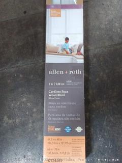 allen + roth 2 inch cordless fox wood blinds cut to 68 and 1/2 in