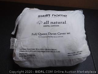Swift home all natural full/Queen duvet cover set