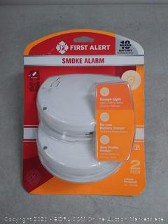 First Alert Battery-Powered Photoelectric Smoke Detector 2 Pack (online $50)