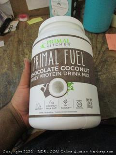 Primal Fuel  Chocolate Coconut Whey Protein Drink Mix