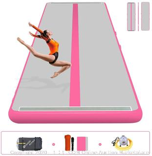 "Sinolodo Bouncy Gymnastics Mat, Entertainment,TumblingLow-Weight, PortableIndoor Outdoor Water Use 16'x3.28'x4"" (online $499)"