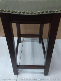 "Linon Claridge 26"" Wood Counter Stool in Beige"