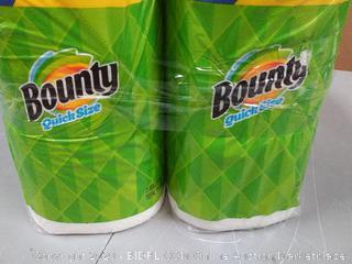 Bounty quick size 4 extra large paper towel rolls