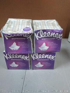 Kleenex Expressions Ultra Soft Facial Tissue x4