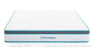 Linenspa 8 Inch Memory Foam and Innerspring Hybrid Mattress - Medium-Firm Feel - Full (rack 14 & 15) (Online $150)