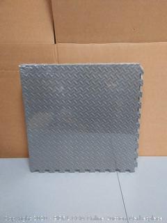 "BalanceFrom Puzzle Exercise Mat 3/4"" with EVA Foam Interlocking Tiles (Gray) Foam"