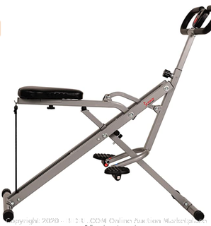 Sunny Health & Fitness Squat Assist Row-N-Ride Trainer for Squat Exercise and Glutes Workout (upstairs)