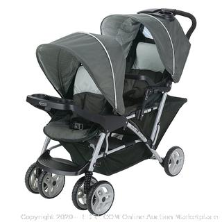Graco DuoGlider Double Stroller Lightweight Double Stroller with Tandem Seating, Glacier (Online $135)