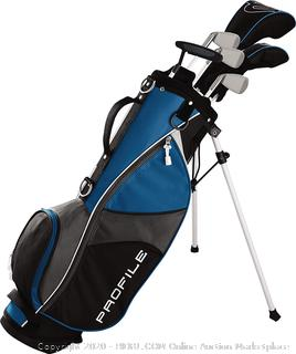 Wilson Profile JGI Junior Large Complete Golf Club Set with Bag (Blue, Right Handed) (Online $225)
