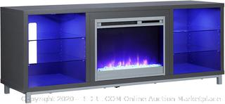Ameriwood home Lumina ultra flame fireplace console (Online $380)