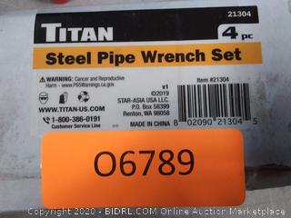 Titan 4-Piece Steel Pipe Wrench Set