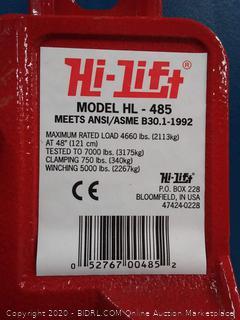 """Hi-Lift Jack Hl485 48"""" Hi-Lift Red All Cast Jack"""