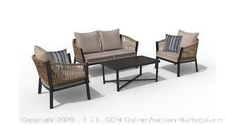 destination summer 4-Piece rope chat set with 2 decorative pillows (Online $499)