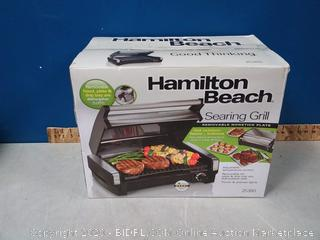 Hamilton Beach Electric Indoor Searing Grill Removable Easy-To-Clean Nonstick Plate, 6-Serving, Extra-Large Drip Tray, Stainless Steel (online $69)