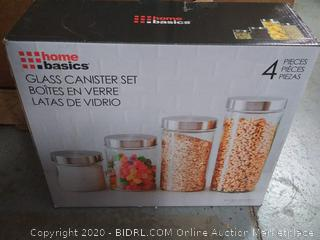 home Basics glass canister set - 4 canisters